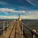Amble pier lighthouse by rob of rochdale