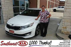 Congratulations Leah on your #Kia #Optima Hybrid from James Adams at Southwest KIA Rockwall! #NewCar