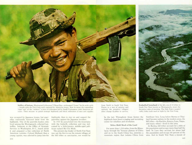 National Geographic April 1968 (2) - VIET NAM'S  MONTAGNARDS