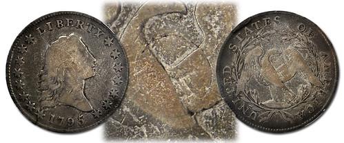1795 Silver Plug Flowing Hair Half Dollar
