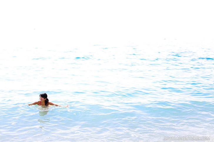 Swimming on the Ligurian Coast.