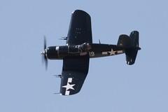 aviation, airplane, propeller driven aircraft, vehicle, vought f4u corsair, fighter aircraft, propeller, flight, air force, air show,
