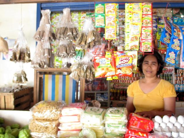 Quinapondan market vendor Susan B. Gonzaga