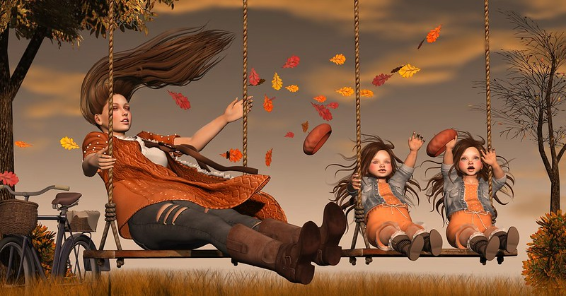 Amelie et les petites: Swing in the wind