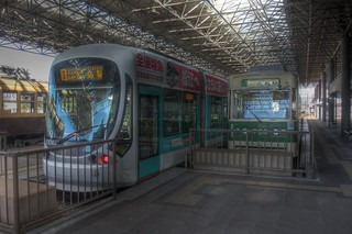 Tramcars at Hiroshima Port on OCT 28, 2015 (8)