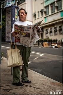 Man reading his newspaper