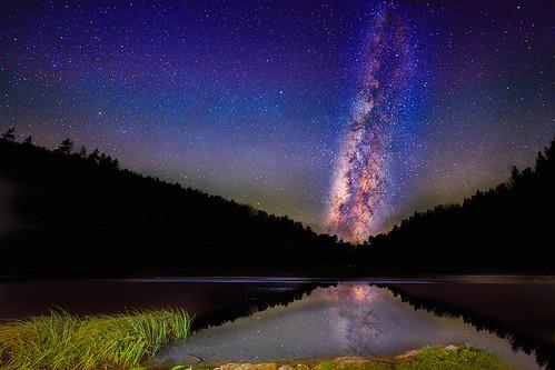 lake reflection nature water night dark stars landscape pond himmel galaxy starry steiermark sterne milkyway milchstrasse hochschwab