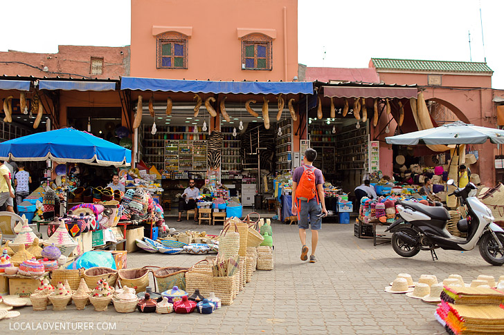 Shopping at Place Jemaa el Fna Marrakech Market (Things to Do in Morocco).