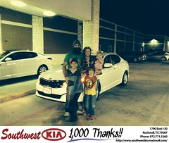 Happy Anniversary to Clay And Tanna on your #Kia #Optima from Gary Guyette Jr at Southwest KIA Rockwall!