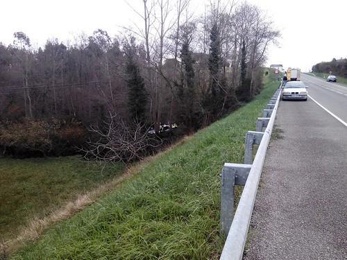 Accidente en la N634 entre La Caridad y Cartavio.