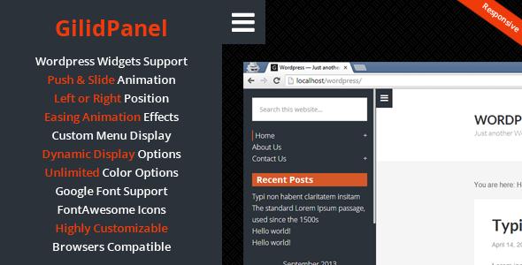 Codecanyon GilidPanel v2.1 - WordPress Sliding Panel Sidebar