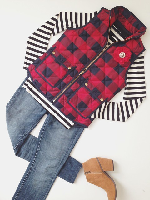 plaid excursion vest