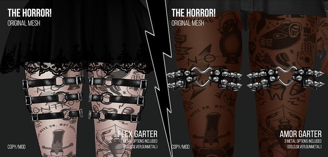 The Horror!~ Flex Garters/Amor Garters @Suicide Dollz
