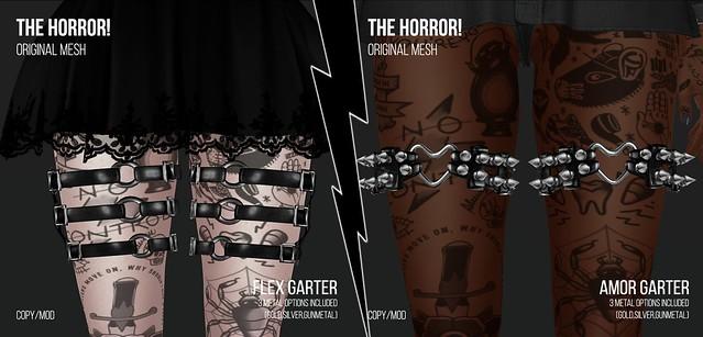 The Horror!~ Flex Garters/Amor Garters @Suicide Dollz
