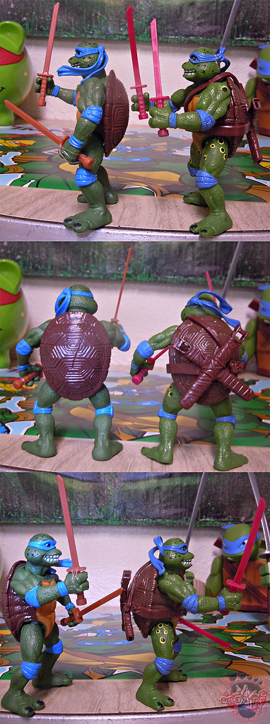 "Nickelodeon ""HISTORY OF TEENAGE MUTANT NINJA TURTLES"" FEATURING LEONARDO - 'MOVIE STAR' LEO iv / ..with Original MOVIE STAR Leo '92 (( 2015 ))"