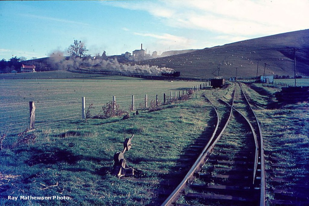 The loop track at the bottom of the grade to the lime works.