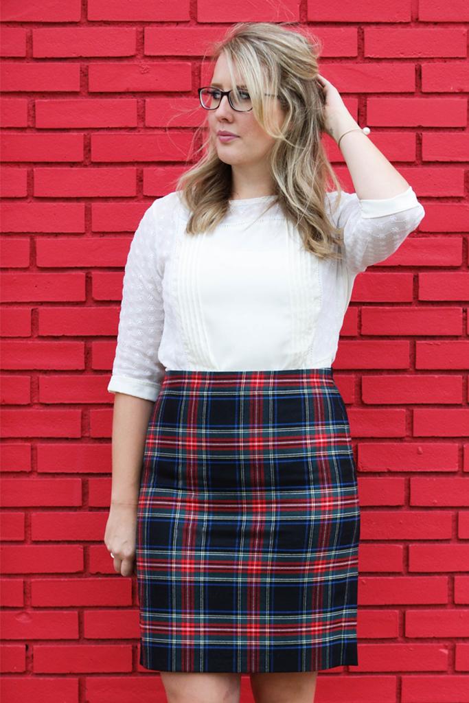 j.crew factory plaid tartan skirt