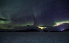 Northern lights in Kilpisjärvi