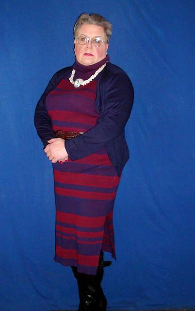 Butch Cut in a Sweater Dress