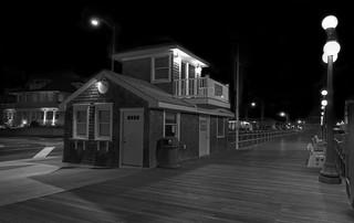 Lifeguard headquarters in winter