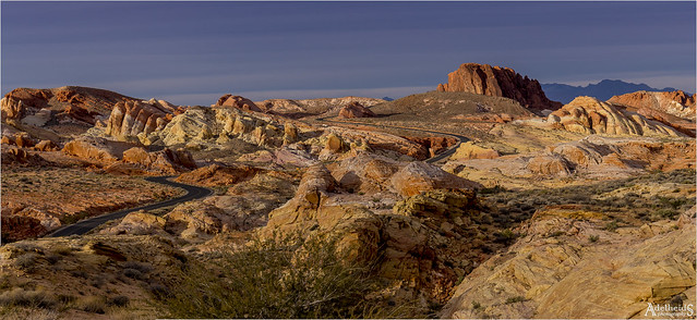 Golden hour in Valley of Fire, USA