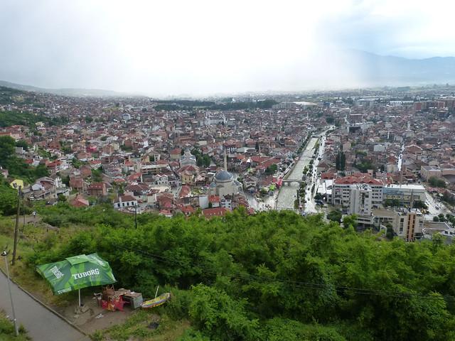 Prizren látképe az erődből