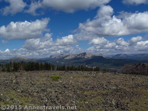 Togwotee Pass & nearby Absaroka Peaks from the northerly part of Lava Mountain, Shoshone National Forest and Bridger-Teton National Forest, Wyoming