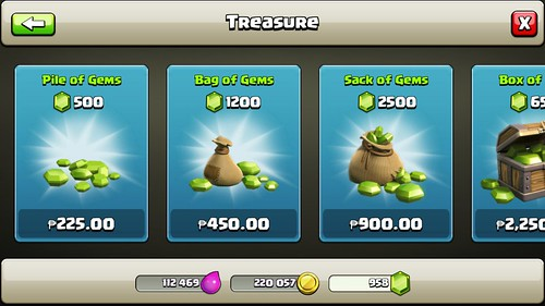 Clash of Clan Gems Purchase via Smart