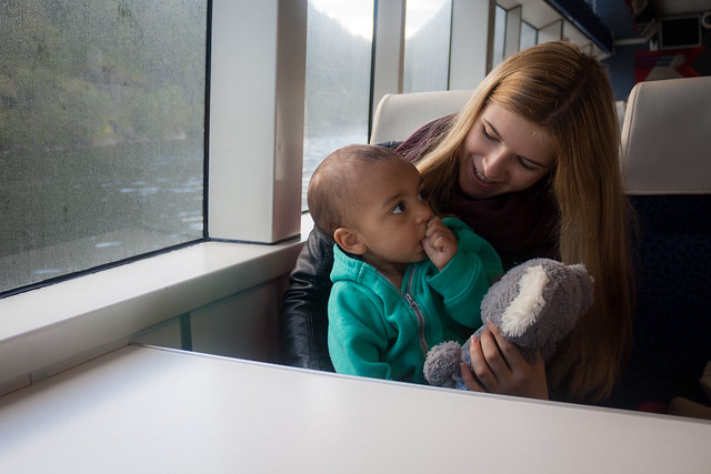 Me and Oscar on the fjords cruise, Bergen