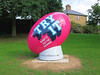 A Giant Rugby Ball Lands In Twickenham.