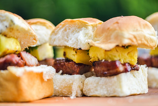 Sweet Glazed Pork Belly and Grilled Pineapple Sandwiches