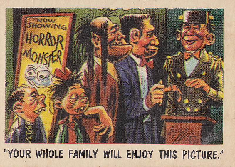 """You'll Die Laughing"" Topps trading cards 1959,  illustrated by Jack Davis (23)"