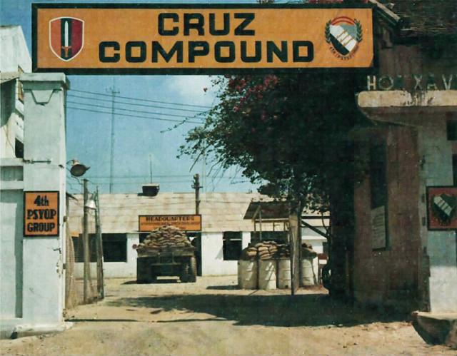 SAIGON 1968 - The entrance to the headquarters of the 4th Psyop Group at Cruz Compound - 16 Phạm Ngũ Lão, khu vực Ga  xe lửa Saigon