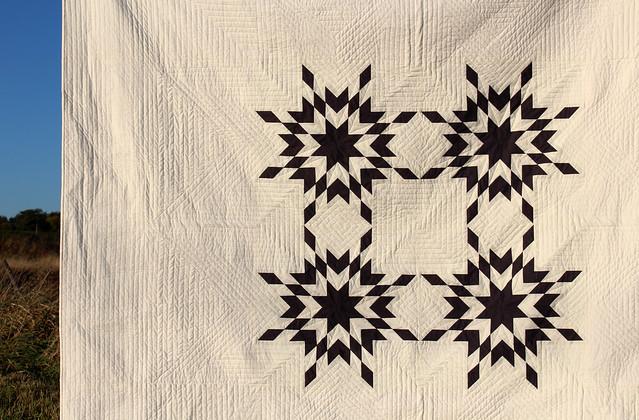 quilting detail, star quilt