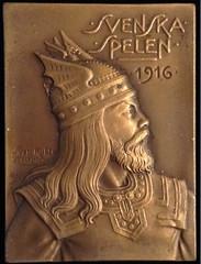 1916 Swedish Games Plaque obverse