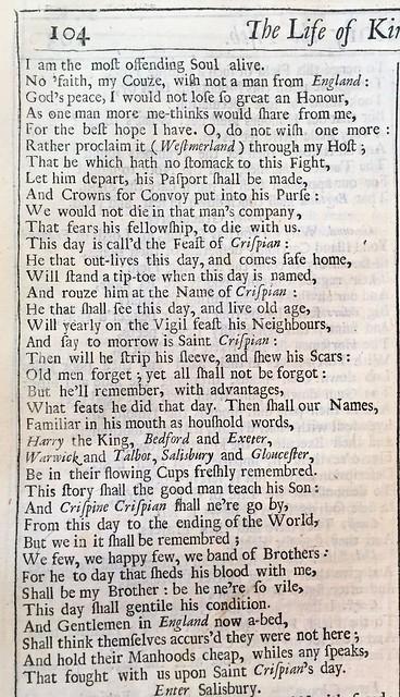 Shakespeare Henry V b