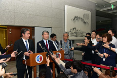 Deputy Secretary of State Antony 'Tony' Blinken and South Korean Vice Foreign Minister Cho Tae-yong address reporters following their bilateral meeting at the Ministry of Foreign Affairs in Seoul, South Korea, on October 6, 2015. [State Department photo/ Public Domain]