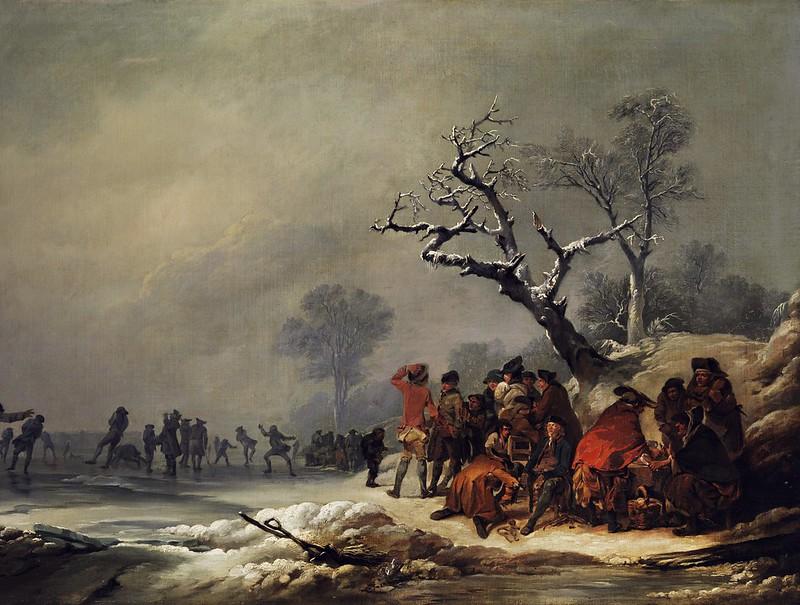 Philippe Jacques de Loutherbourg - Rastende Gesellschaft bei Eisvergnügen