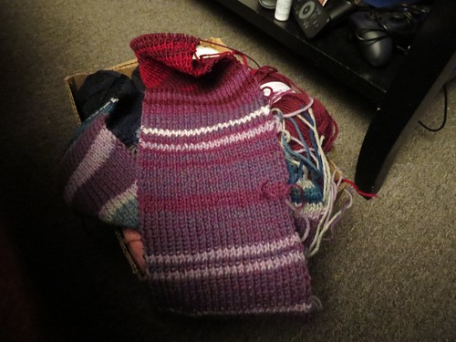 wip: Year in Temps Scarf