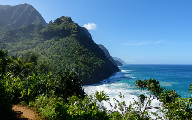 Great view west along the Na Pali coast