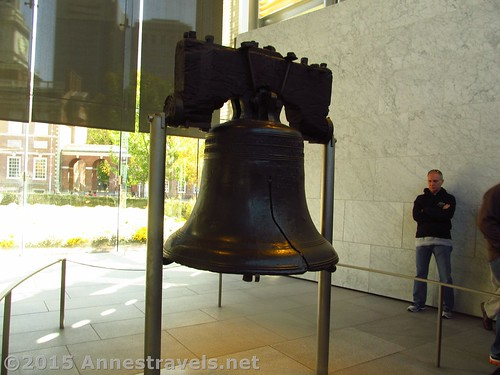 The cracked side of the Liberty Bell, Independence National Historic Site, Philadelphia, Pennsylvania