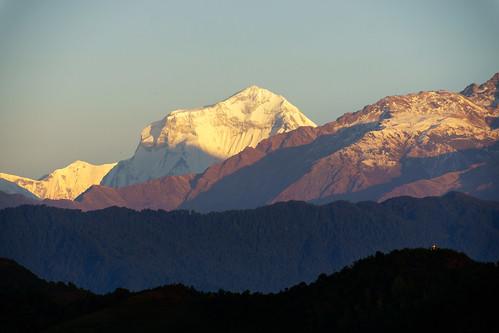 nepal sunrise sonnenaufgang sarangkot dhaulagirii
