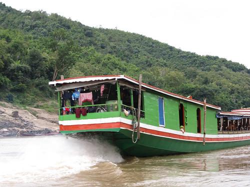 Deuxième journée de bateau sur le Mékong entre Pakbeng et Luang Prabang