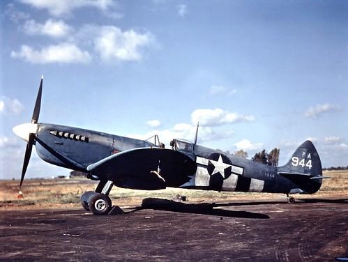 USAF Spitfire PR-XIT USAAF 7PG14PS  PA944 at RAF Mount Farm Oxfordshire 1944
