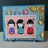 Kokeshi Dolls card.