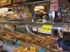 #85 The wonderful hot food case at the Rio Rancho Market, Riverside California, Photo by Wes