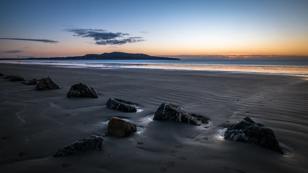 Bull Island sunrise - Dublin, Ireland - Seascape photography