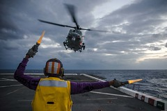 USS Green Bay conducts flight operations.