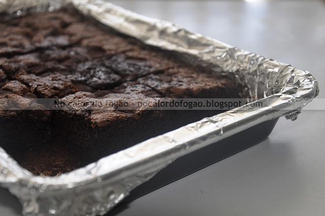Bolo-brownie com farinha de aveia