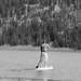 Mike stand up paddleboarding on Todd Lake